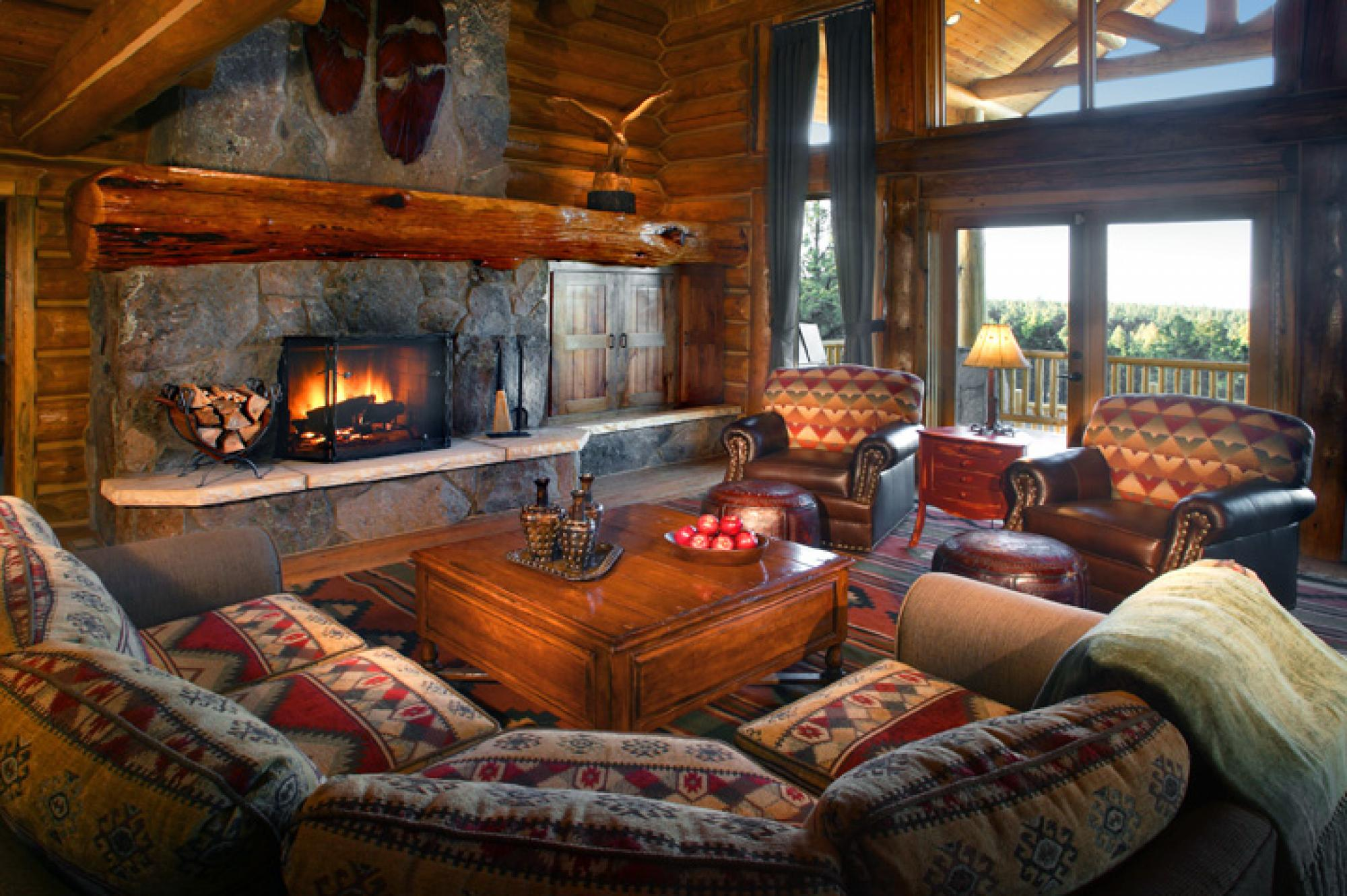 Cabin Living Room, The Club at Hidden Meadow Ranch