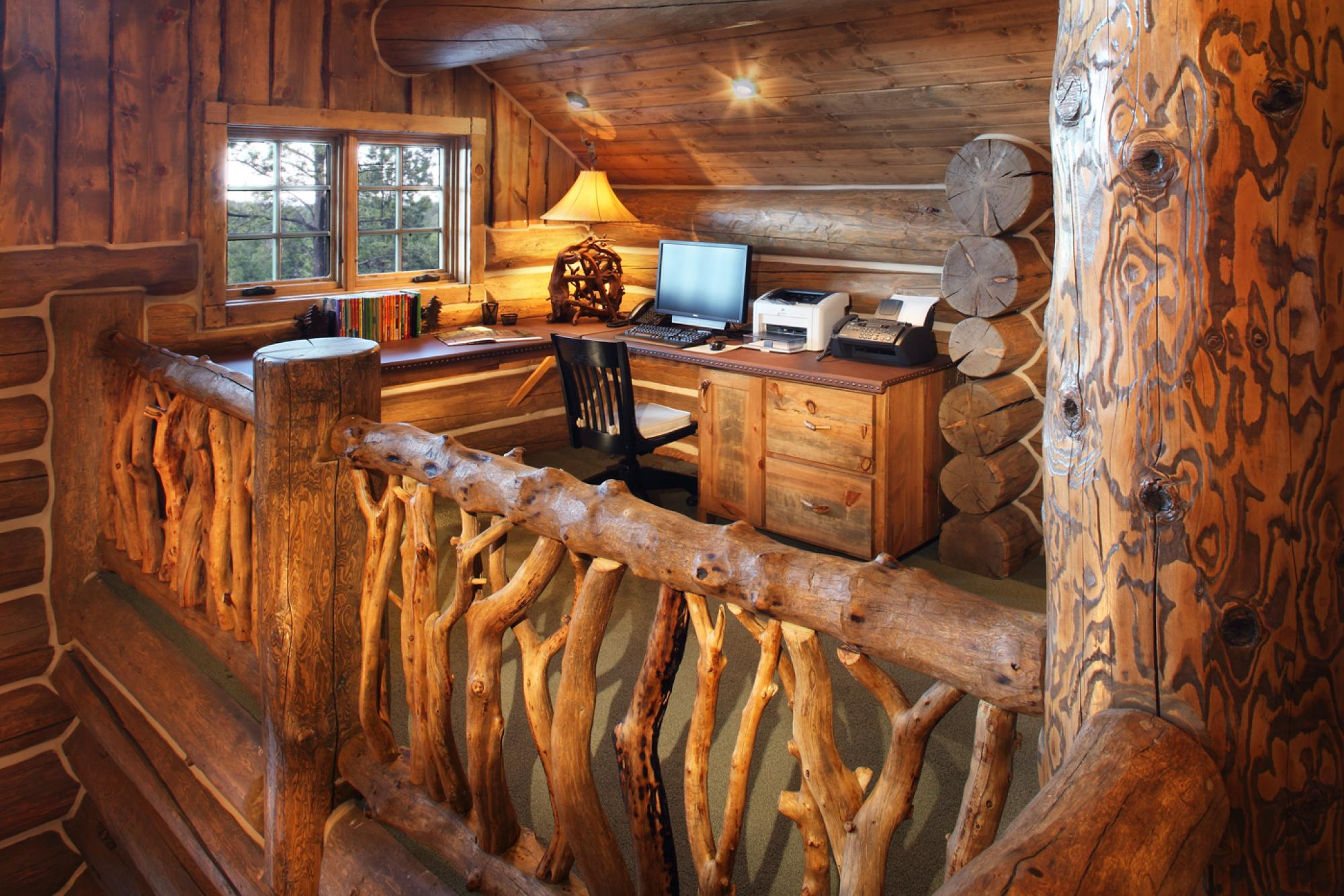 Woodland Cabin Loft Office