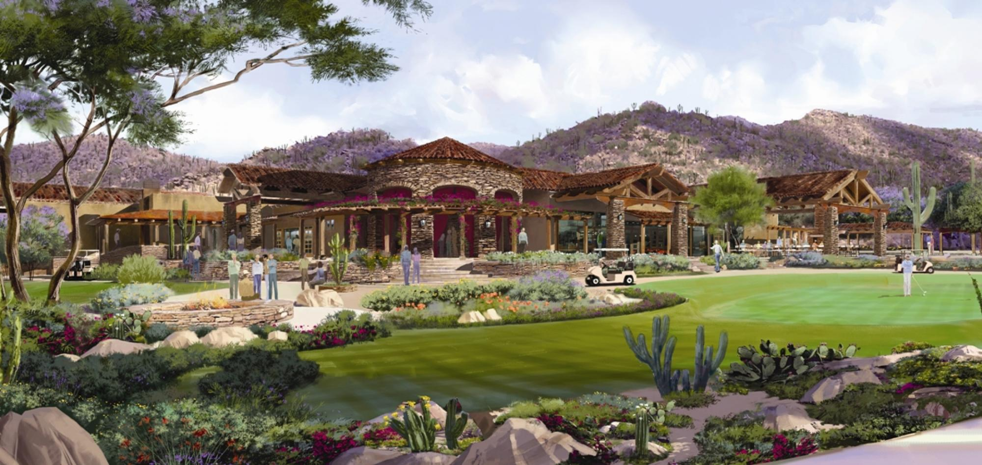Clubhouse Exterior Rendering