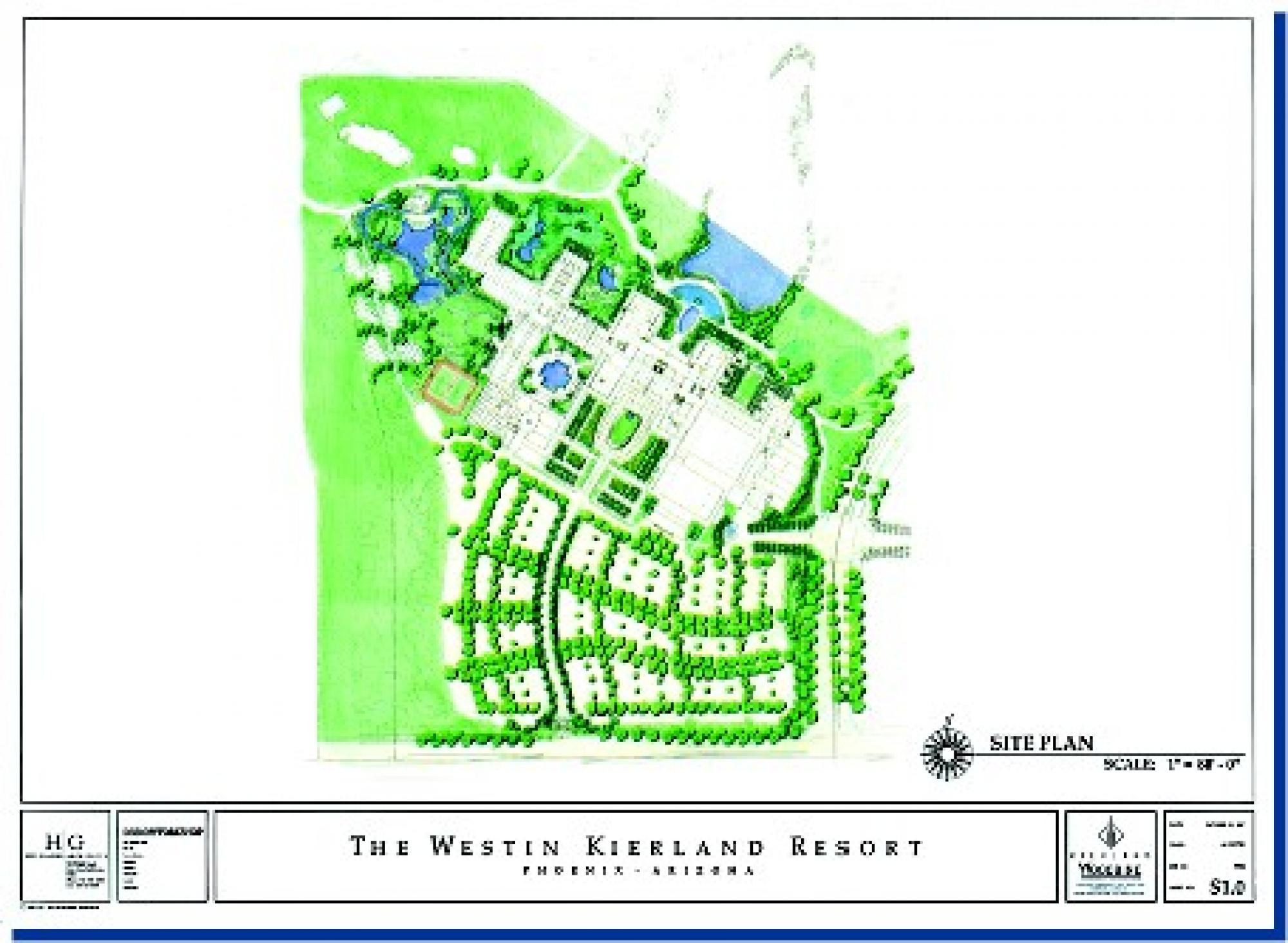 Westin Kierland Resort Site Plan